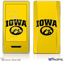 Zune HD Skin - Iowa Hawkeyes Tigerhawk Oval 01 Black on Gold