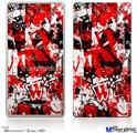 Zune HD Skin - Red Graffiti