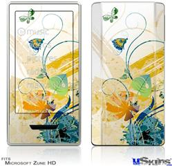 Zune HD Skin - Water Butterflies