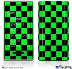 Zune HD Skin - Checkers Green