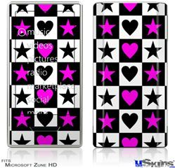 Zune HD Skin - Hearts And Stars Pink