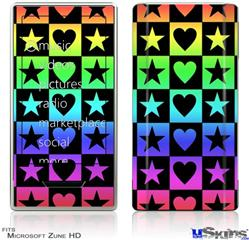 Zune HD Skin - Hearts And Stars Rainbow