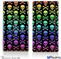 Zune HD Skin - Skull and Crossbones Rainbow