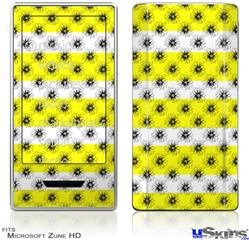 Zune HD Skin - Kearas Daisies Stripe Yellow