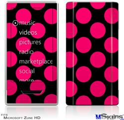 Zune HD Skin - Kearas Polka Dots Pink On Black