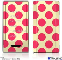 Zune HD Skin - Kearas Polka Dots Pink On Cream