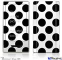 Zune HD Skin - Kearas Polka Dots White And Black