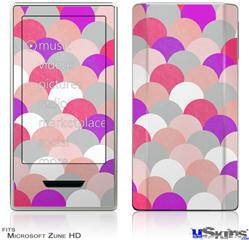 Zune HD Skin - Brushed Circles Pink