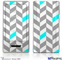Zune HD Skin - Chevrons Gray And Aqua