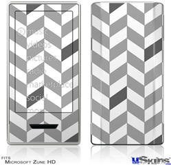 Zune HD Skin - Chevrons Gray And Charcoal