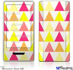 Zune HD Skin - Triangles Warm