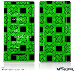 Zune HD Skin - Criss Cross Green
