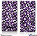 Zune HD Skin - Splatter Girly Skull Purple
