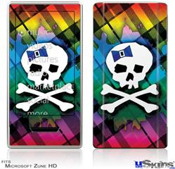 Zune HD Skin - Rainbow Plaid Skull