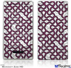 Zune HD Skin - Locknodes 01 Hot Pink (Fuchsia)