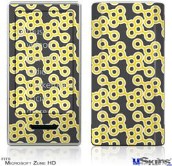 Zune HD Skin - Locknodes 02 Yellow