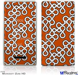 Zune HD Skin - Locknodes 03 Burnt Orange