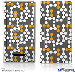 Zune HD Skin - Locknodes 04 Orange