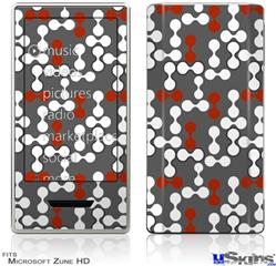 Zune HD Skin - Locknodes 04 Red Dark