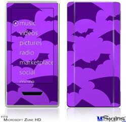 Zune HD Skin - Deathrock Bats Purple
