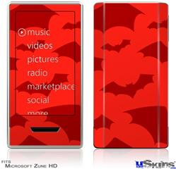 Zune HD Skin - Deathrock Bats Red