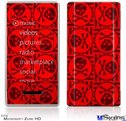 Zune HD Skin - Skull Patch Pattern Red