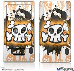 Zune HD Skin - Cartoon Skull Orange