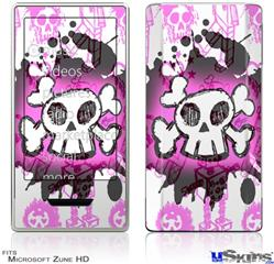 Zune HD Skin - Cartoon Skull Pink