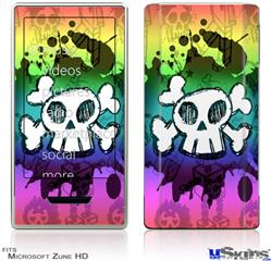 Zune HD Skin - Cartoon Skull Rainbow
