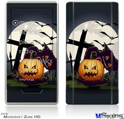 Zune HD Skin - Halloween Jack O Lantern and Cemetery Kitty Cat