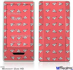 Zune HD Skin - Paper Planes Coral