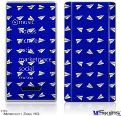 Zune HD Skin - Paper Planes Royal Blue