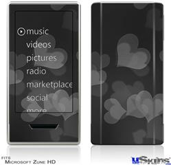 Zune HD Skin - Bokeh Hearts Grey