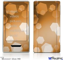 Zune HD Skin - Bokeh Hex Orange