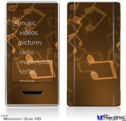 Zune HD Skin - Bokeh Music Orange