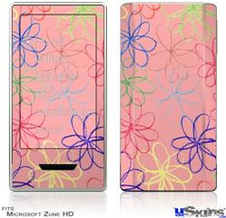 Zune HD Skin - Kearas Flowers on Pink