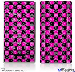 Zune HD Skin - Skull Crossbones Checkerboard