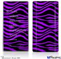 Zune HD Skin - Purple Zebra