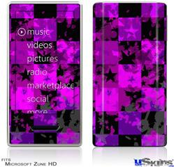 Zune HD Skin - Purple Star Checkerboard
