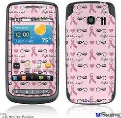 LG Vortex Skin - Fight Like A Girl Breast Cancer Ribbons and Hearts