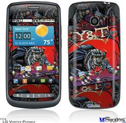 LG Vortex Skin - Y&T Black Tiger Covers