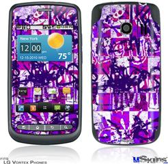 LG Vortex Skin - Purple Checker Graffiti