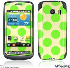 LG Vortex Skin - Kearas Polka Dots Lime On Cream