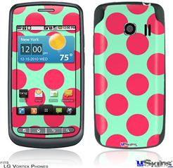 LG Vortex Skin - Kearas Polka Dots Pink And Blue