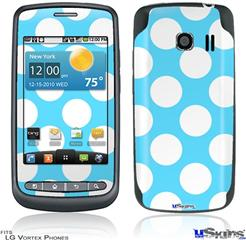 LG Vortex Skin - Kearas Polka Dots White And Blue