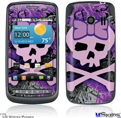 LG Vortex Skin - Purple Girly Skull