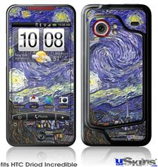 HTC Droid Incredible Skin - Vincent Van Gogh Starry Night