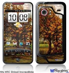 HTC Droid Incredible Skin - Vincent Van Gogh Autumn Landscape With Four Trees