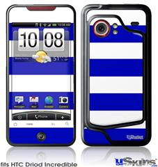 HTC Droid Incredible Skin - Psycho Stripes Blue and White