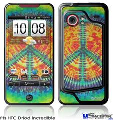 HTC Droid Incredible Skin - Tie Dye Peace Sign 111